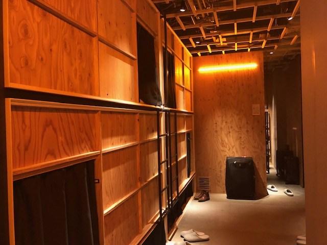 泊まれる本屋のベッドスペース カップル