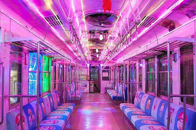 銚子電鉄 イルミネーション電車